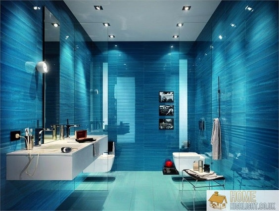 30 Soothingly Beautiful Blue Bathroom