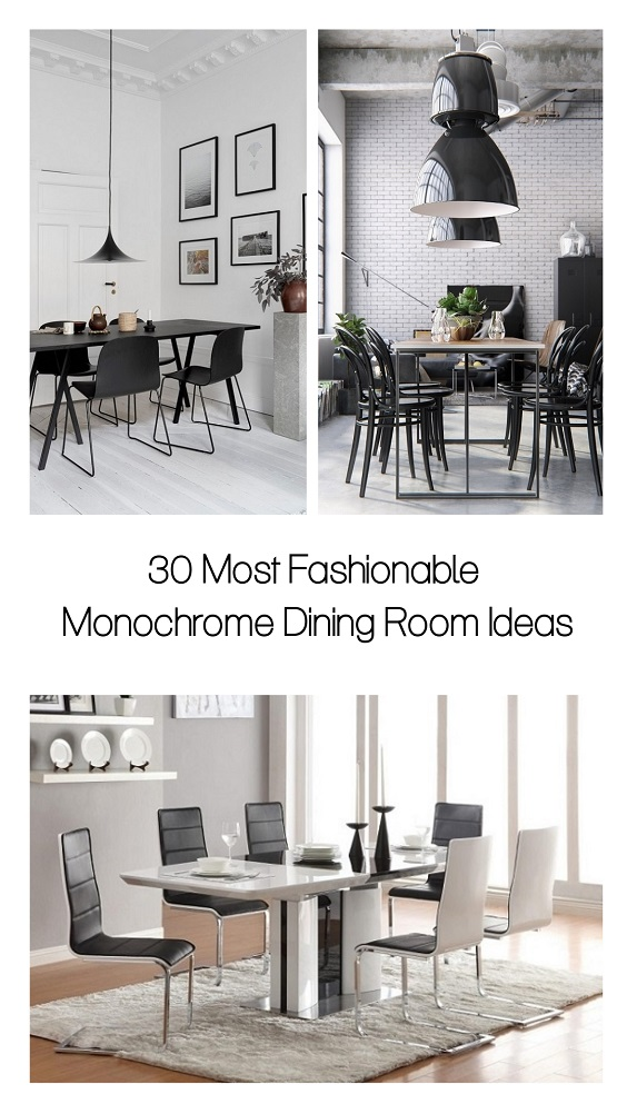 Monochrome Dining Room