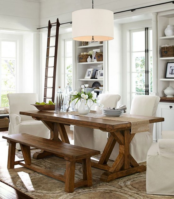 25+ Beautiful Farmhouse Dining Room Inspirations for a Stylish Layout