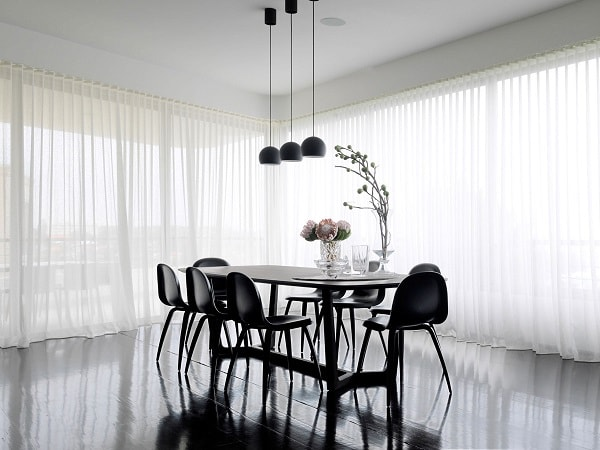 monochrome dining room 1-min