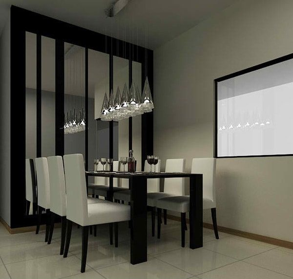 monochrome dining room 10-min