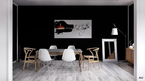 monochrome dining room 11-min