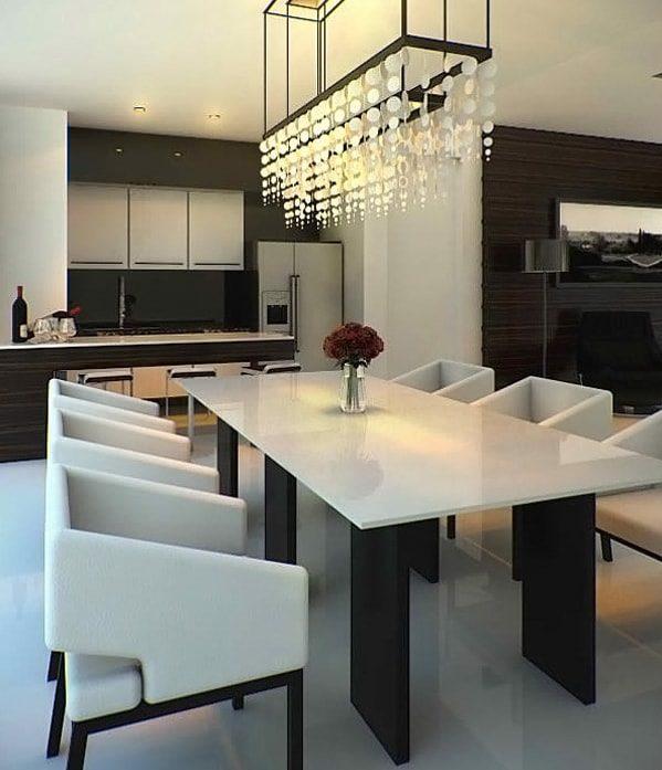 monochrome dining room 13-min