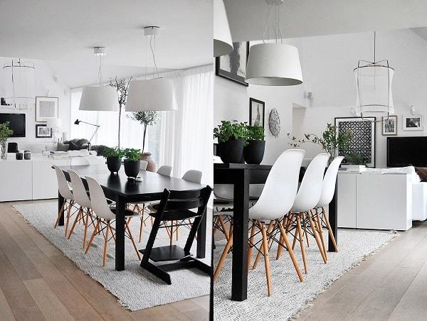 monochrome dining room 14-min