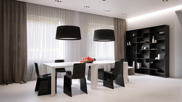 monochrome dining room 16-min