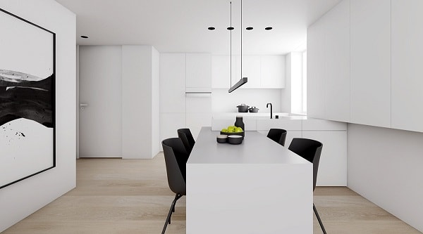 monochrome dining room 18-min