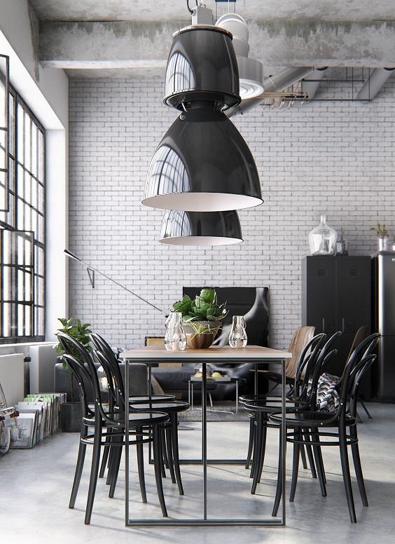 monochrome dining room 20