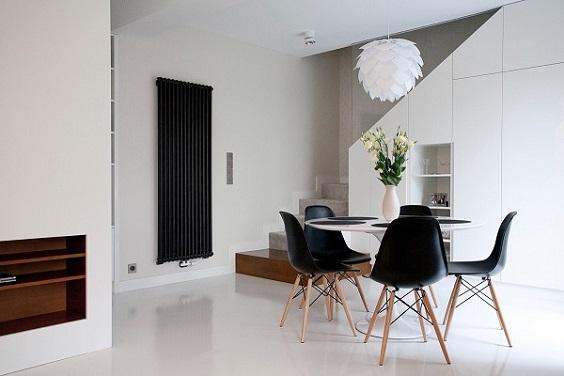 monochrome dining room 21
