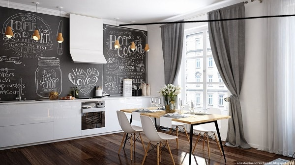 30 Most Fashionable Monochrome Dining Room Ideas
