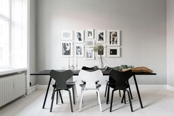 monochrome dining room 3-min