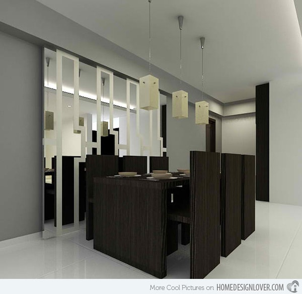 monochrome dining room 5-min