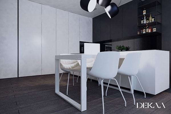 monochrome dining room 7-min