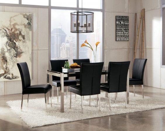monochrome dining room 8-min