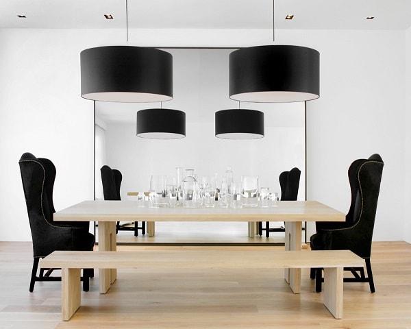 monochrome dining room 9-min