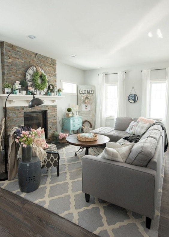 30+ Most Stylish Shabby Chic Living Room Inspirations That ...