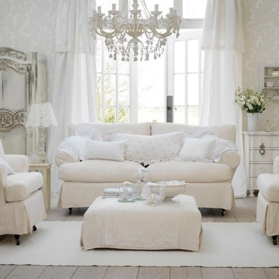 shabby chic living room 10-min
