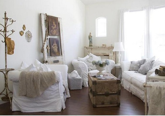 shabby chic living room 14-min