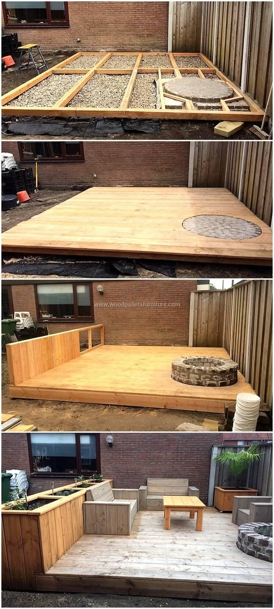 DIY Pallet Patio Terrace 12-min