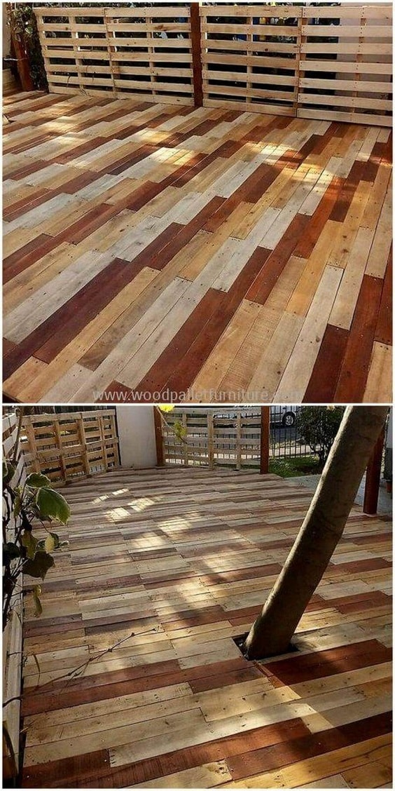 DIY Pallet Patio Terrace 13-min