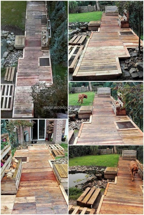 DIY Pallet Patio Terrace 14-min