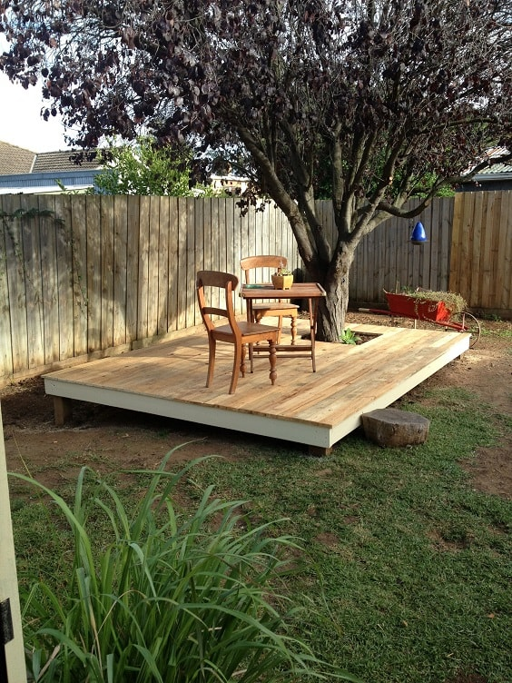 DIY Pallet Patio Terrace 15-min