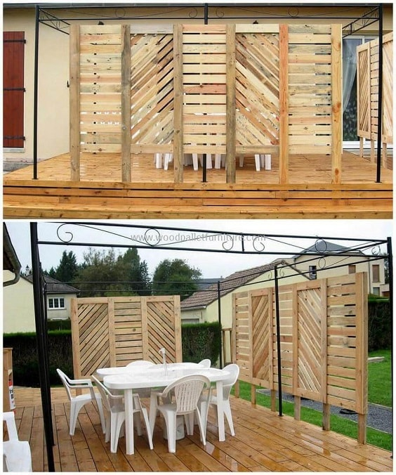 DIY Pallet Patio Terrace 18-min