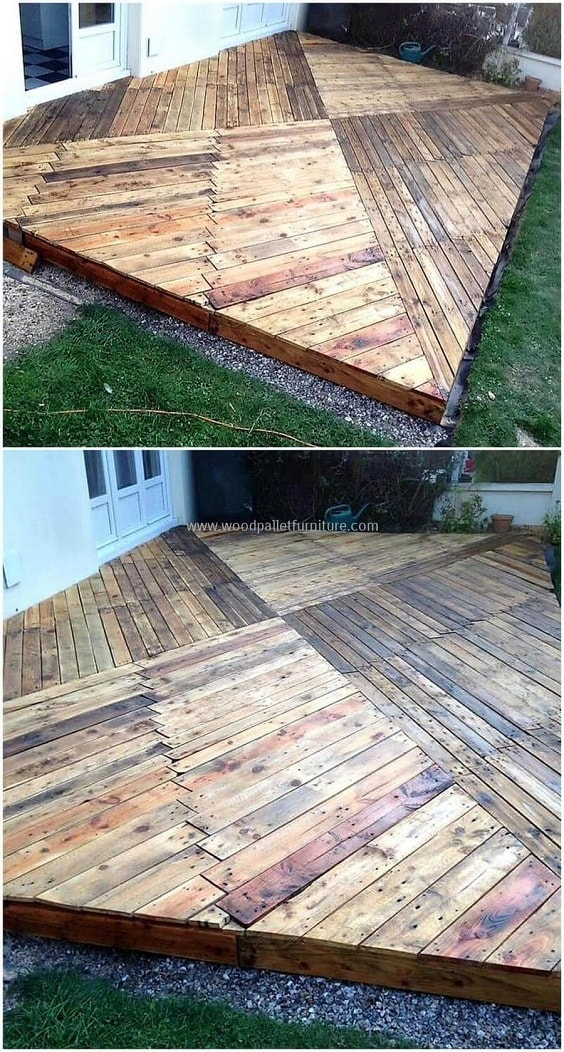 DIY Pallet Patio Terrace 19-min
