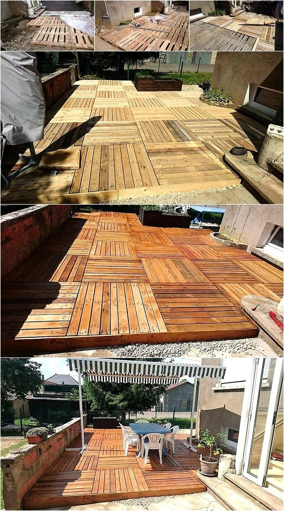 DIY Pallet Patio Terrace 5-min