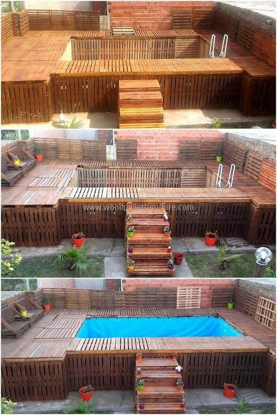 DIY Pallet Patio Terrace 9-min
