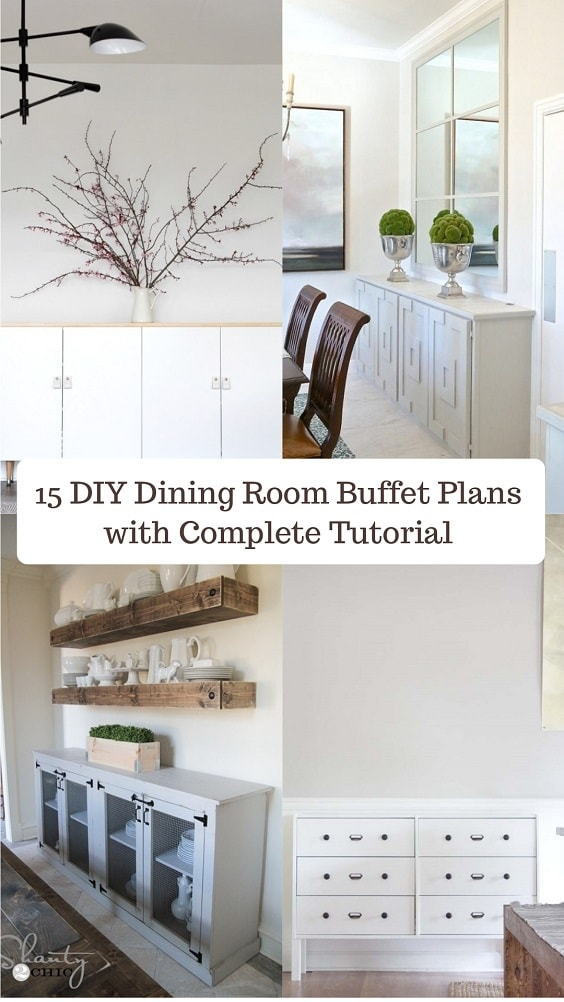 15 DIY Dining Room Buffet Plans with Complete Tutorial | Easy Project