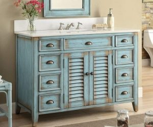 Farmhouse Style Bathroom Vanity 1-min