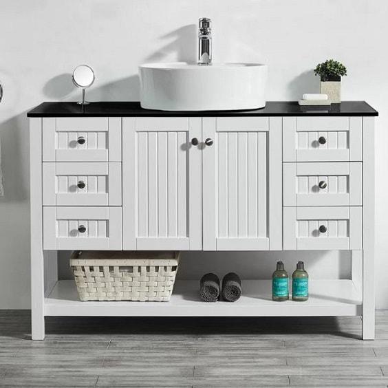 Farmhouse Style Bathroom Vanity 10-min