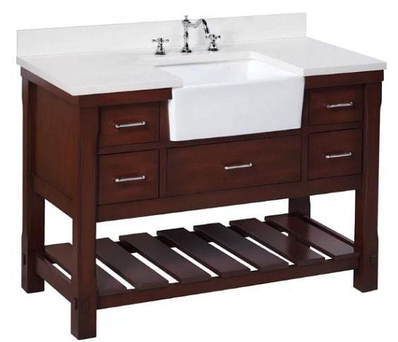 Farmhouse Style Bathroom Vanity 2-min