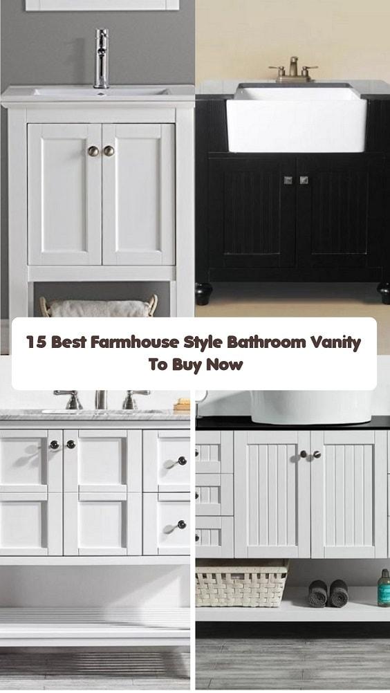 Farmhouse Style Bathroom Vanity-min