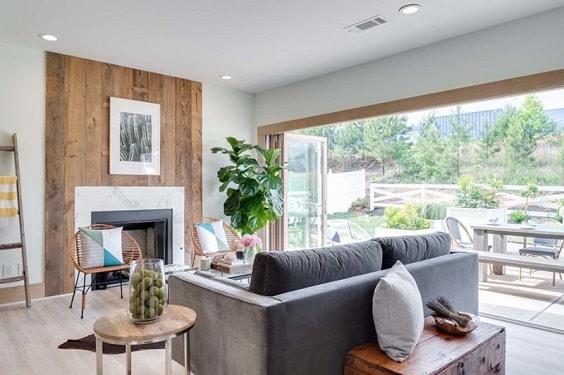 Modern Farmhouse Living Room 1-min