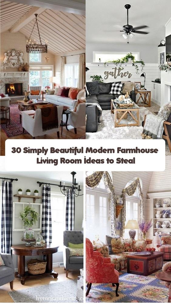 Modern Farmhouse Living Room (1)