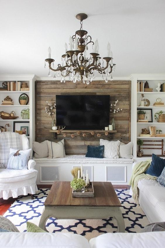 Modern Farmhouse Living Room 11-min