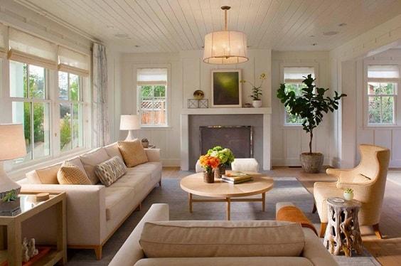 Modern Farmhouse Living Room 13-min