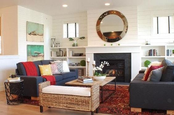 Modern Farmhouse Living Room 2-min