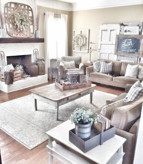 Modern Farmhouse Living Room 21-min