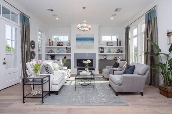 Modern Farmhouse Living Room 22-min