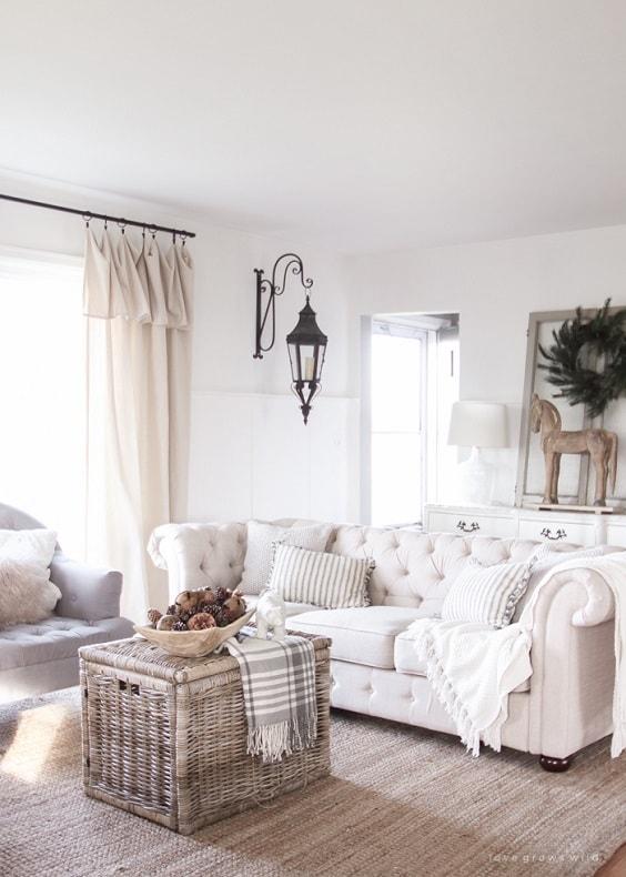 Modern Farmhouse Living Room 23-min