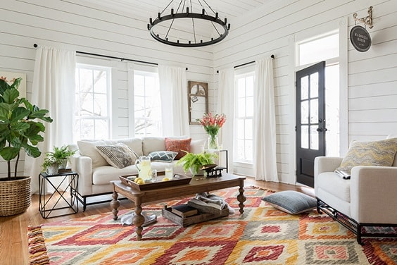 Modern Farmhouse Living Room 26-min
