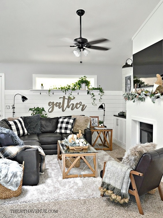 Modern Farmhouse Living Room 28-min