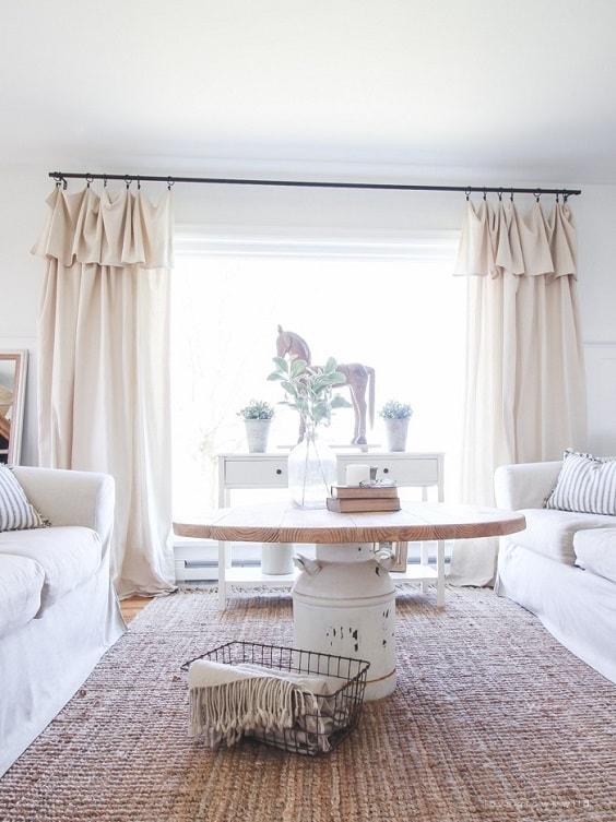 Modern Farmhouse Living Room 4-min