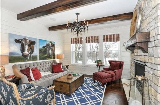 Modern Farmhouse Living Room 6-min