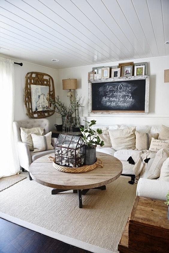 Modern Farmhouse Living Room 7-min