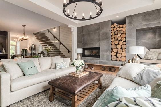 Modern Farmhouse Living Room 9-min