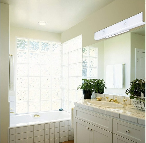 White Bathroom Light Fixtures 10-min