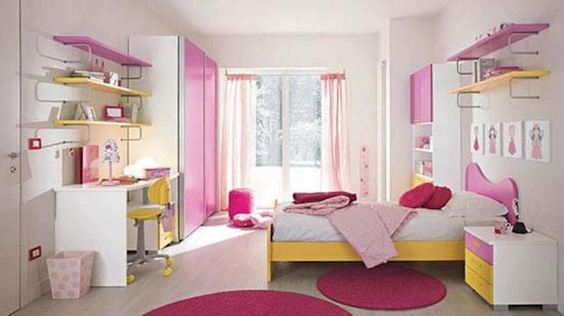 pink girl bedroom 10-min